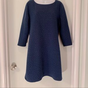 Aryeh Anthro Navy blue quilted dress sz M